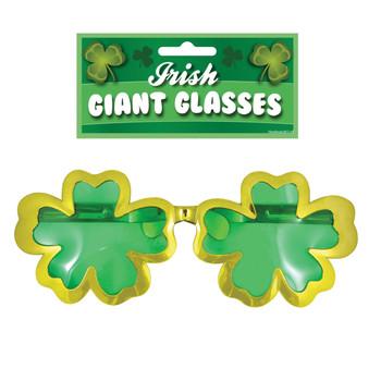Giant Glasses 28cm St Patrick's Day