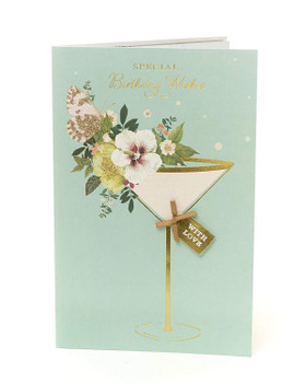 RHS Floral Birthday Card for Her Special Birthday Wishes