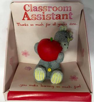 Classroom Assistant Captioned JoJo Giraffe Resin Figurine Elliot and Buttons