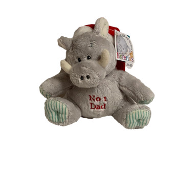 No.1 Dad Elliot and Buttons Wallace Warthog Cuddly Toy in Christmas Hat