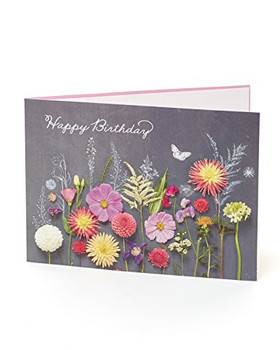 Birthday Card for Her Flowers Floral Pretty Card