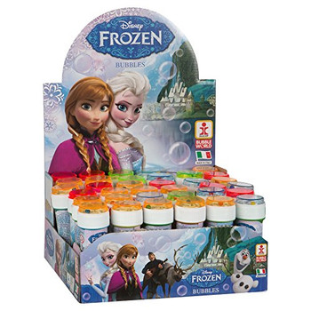 Box of 36 Assorted Disney Frozen Bubble Tubs 60ml