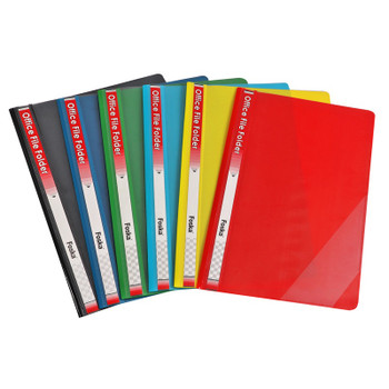 Pack of 12 Black Project File Folders