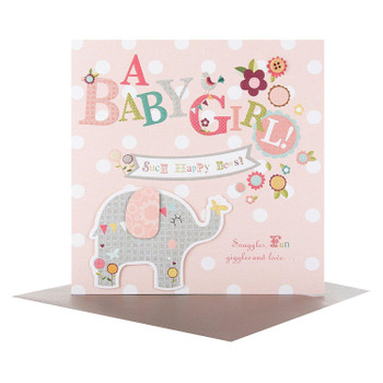 A Baby Girl, New Baby Card