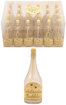 Pack of 24 Clear Bottle Bubbles with Cream Wand