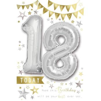 18 Today Balloon Boutique Greeting Card Balloon Boutique Greeting Card