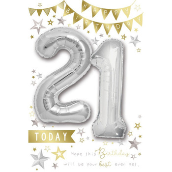 21 Today Balloon Boutique Greeting Card