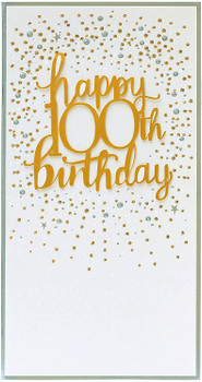 100th Birthday Card Luxury Age 100 card