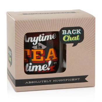 Back Chat 13 fl oz 369 ml Anytime is Tea Time Ceramic Mug