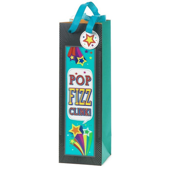 3D Pop Fizz Gift Bag For Bottle of Drink Any Occasion