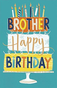 Brother Birthday Card Featuring a Birthday Cake