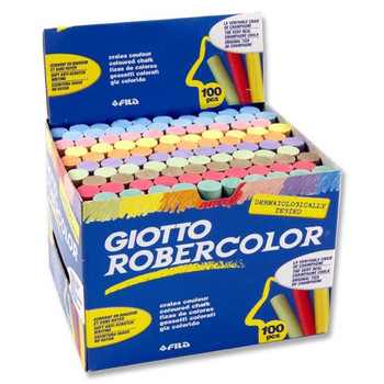 Box of 100 Dust Free Coloured Chalk by Giotto