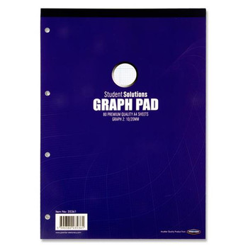 Pack of 80 Sheets A4 Graph Pad by Student Solutions