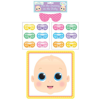 Baby Shower Set Of 14 Pieces Pin The Dummy On The Baby
