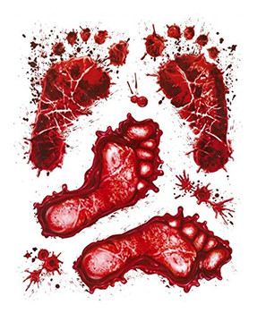 Halloween Blood Deco Feet Window Stickers