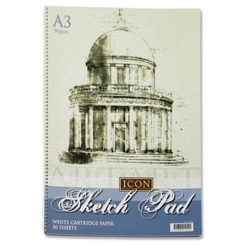 Icon A3 90gsm Spiral Sketch Pad 30 Sheets