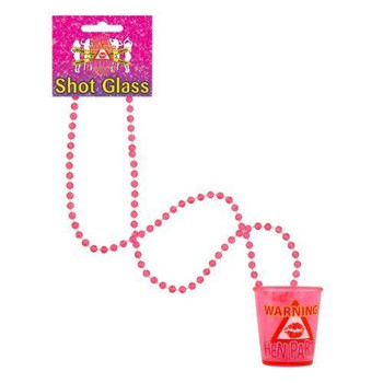 12 x Hen Party Pink Shot Glasses - Hen Night Party Supplies