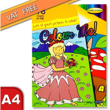 A4 48 Pages Colouring Book for Girls by World of Colour