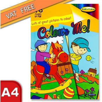 A4 48 Pages Colouring Book for Boys by World of Colour