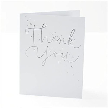 Foiled Finish Thank You Cards Pack of 20