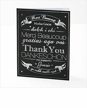 Multi-Language Pack of 10 Thank You Cards