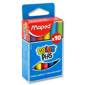 Box of 10 Color'Peps Coloured Chalk by Maped