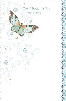 6 x Our Thoughts are with You Bereavement Sympathy Condolences Cards 632113