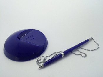 Blue Reception Counter Pen on Chain
