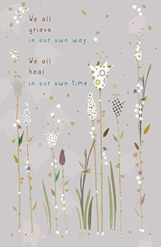 6 x Grieve in Our Own Way Sympathy New Card  Caring Thoughts to Comfort Condolences Cards