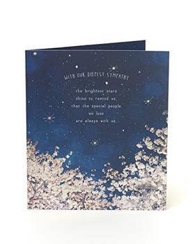 6 x Deepest Sympathy Night Sky Condolences Cards