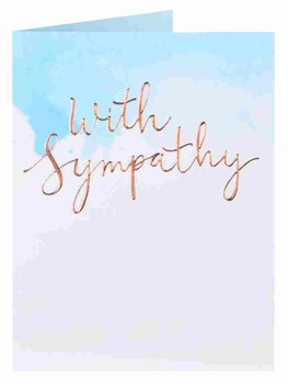 6 x Blue Sky With Sympathy Blank for Your own Message Condolences Cards