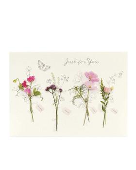 6 x Beautiful Floral Design Birthday Cards