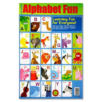 Alphabet Fun Wall Chart by Clever Kidz