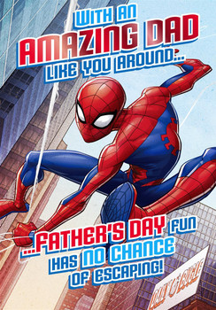 Amazing Marvel-Spiderman Dad Father's Day Card Hallmark