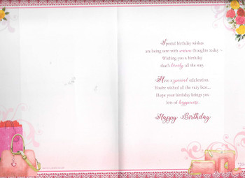 For A Special Sister-in-law On Your Birthday Keepsake Treasures Greeting Card