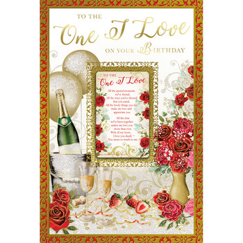 To The One I Love On Your Birthday Keepsake Treasures Greeting Card