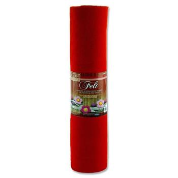 45cm X 5m Red Felt Roll by Icon Craft