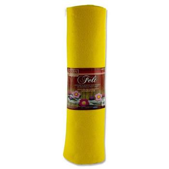 45cm X 5m Yellow Felt Roll by Icon Craft