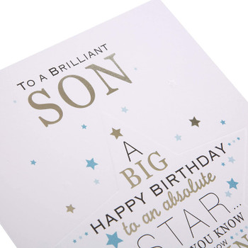 Brilliant Star Son Birthday Card