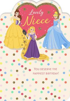 Disney Princess Niece Birthday Card