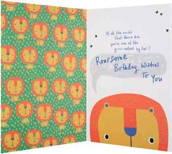 Hallmark Uncle Birthday Card 'Roar'