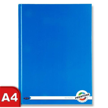 A4 160 Pages Printer Blue Hardcover Notebook by Premto