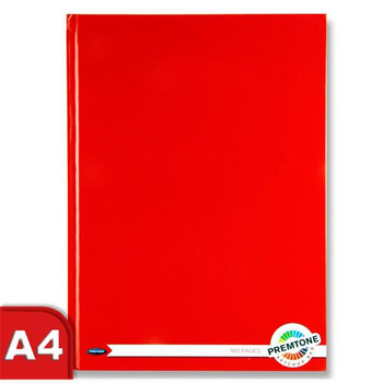 A4 160 Pages Ketchup Red Hardcover Notebook by Premto
