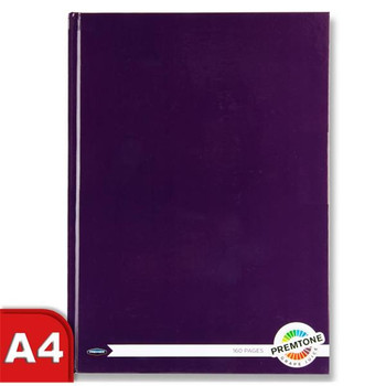 A4 160 Pages Grape Juice Purple Hardcover Notebook by Premto