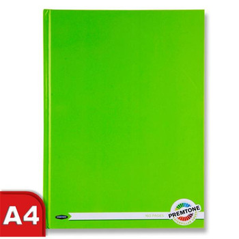 A4 160 Pages Caterpillar Green Hardcover Notebook by Premto