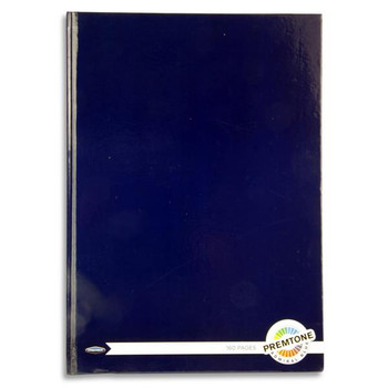 A4 160 Pages Admiral Blue Hardcover Notebook by Premto