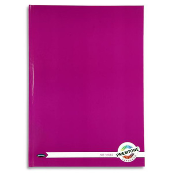 A4 160 Pages Fandango Pink Hardcover Notebook by Premto