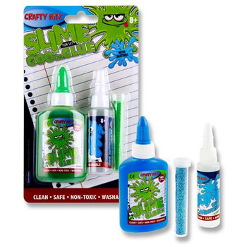 60ml Slime Goo Or Glue Set With Glitter by Crafty Bitz