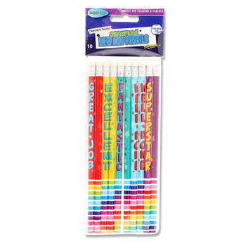 Pack of 10 Reward Pencils by Clever Kidz