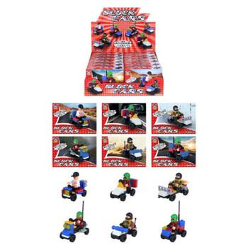 12 Boxes of Mini Building Block Car Kits